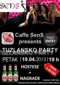 Tuzlansko Party @ Caffe Sens (19.04)