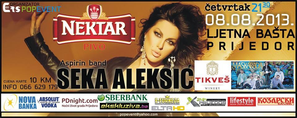 Mega koncert Seke Aleksić u Prijedoru 08. augusta !
