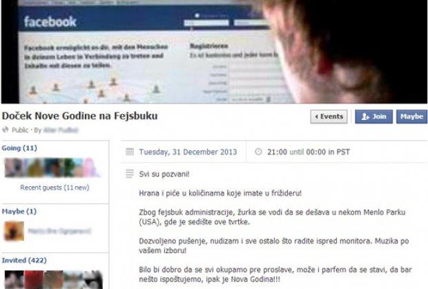 APSOLUTNI HIT: Dočekajte Novu godinu na Fejsbuku!