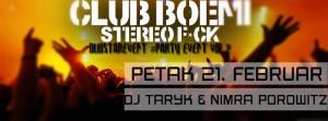 DJ TARYK &DJ Nimra Porowitz 21. Februar -Club BOEMI Sarajevo !!!