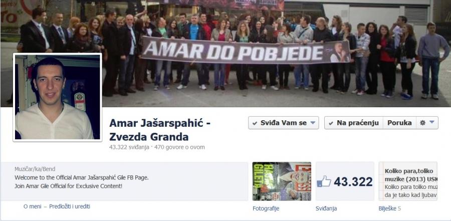 Ne nasjedajte !! Amar Gile Jašarspahić nema profil na Facebooku !!