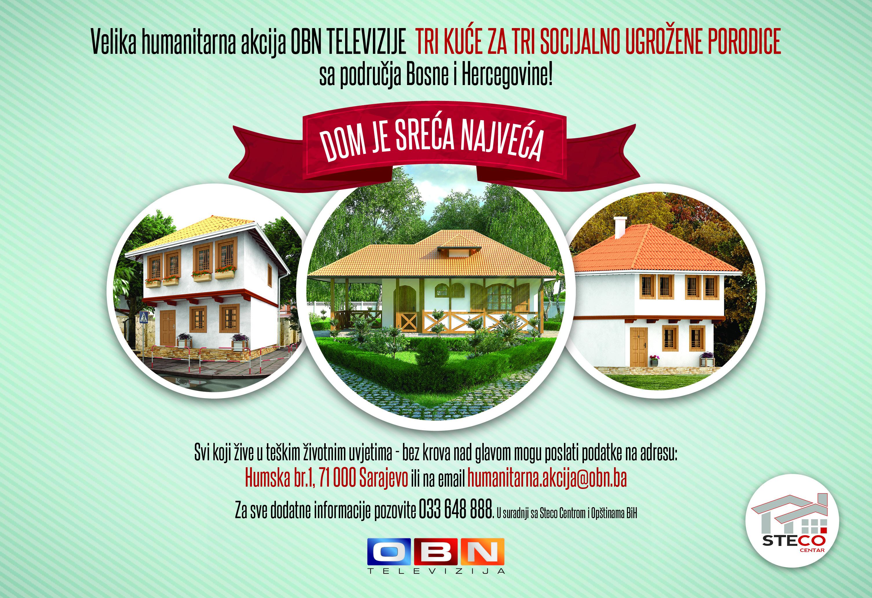 AKCIJA OBN TV: Dom je sreća najveća