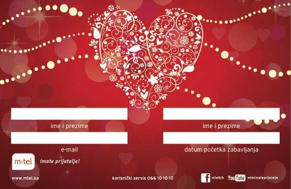 Kompanija m:tel daruje zaljubljene na Valentinovo