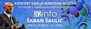 Koncert Šabana Šaulića povodom drugog rođendana 072info !