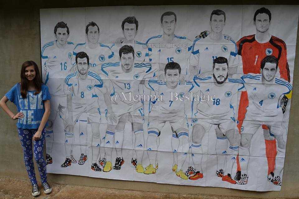Talentovana Merima nacrtala poster Zmajeva širok šest, a visok dva metra